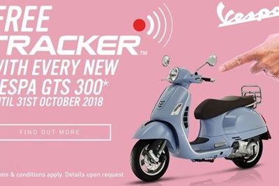 Free Vespa Tracker with every new Vespa GTS 300